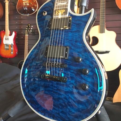 Sold Esp E Ii Eclipse Blue Quilt Ec Electric Guitar