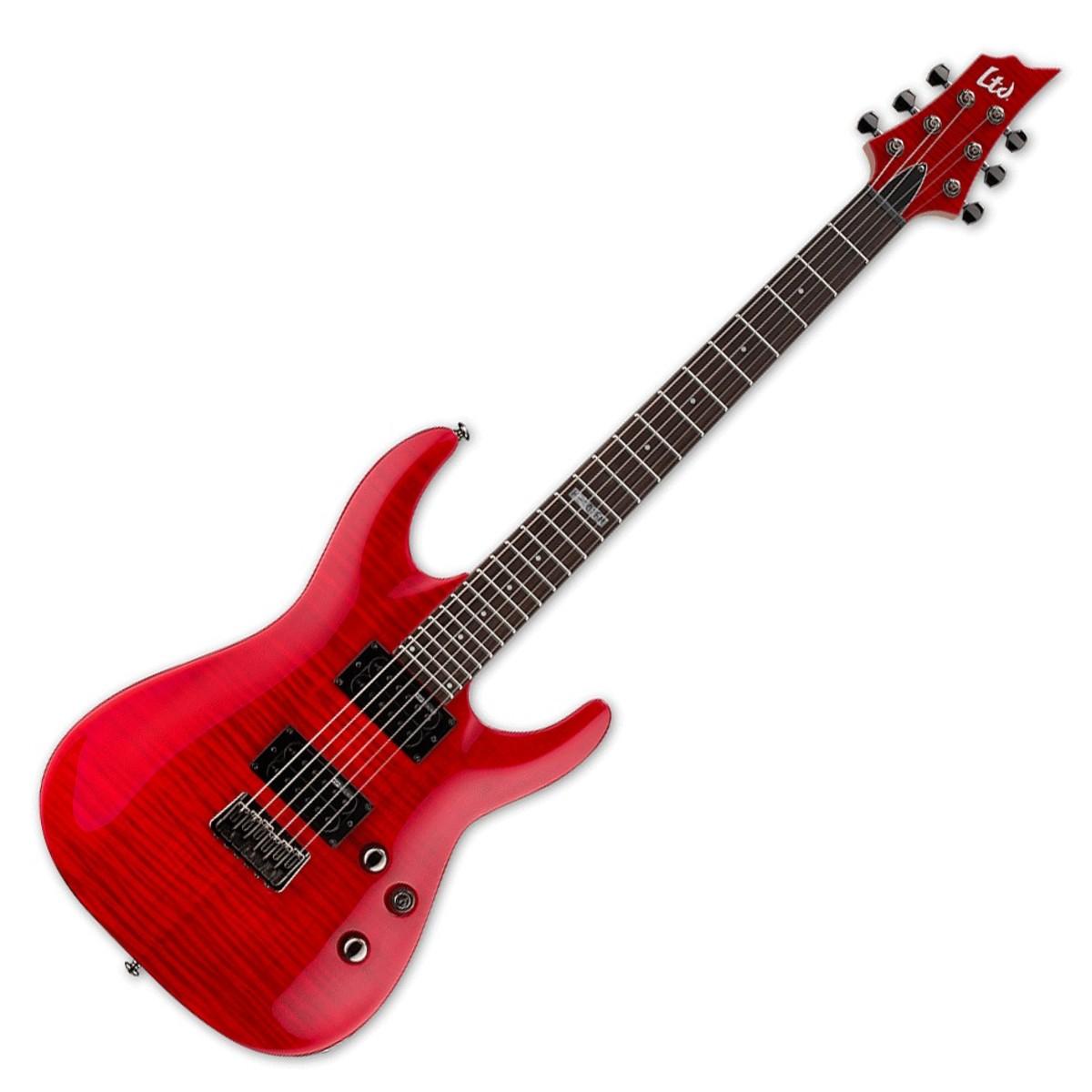 esp ltd h 101fm see thru red electric guitar cornerstone music. Black Bedroom Furniture Sets. Home Design Ideas